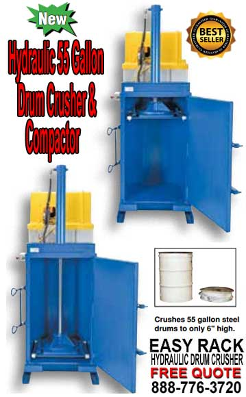 Hydraulic 55 Gallon Drum Compactor