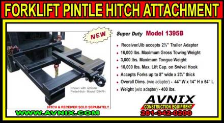 Forklift Pintel Hitch Attachment For Sale Cheap
