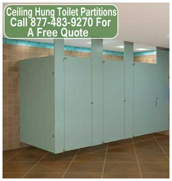 Ceiling Hung Toilet Partitions For Sale, Installation & Repair Services