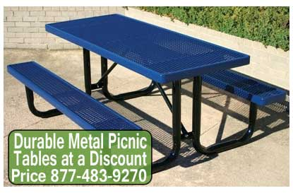 Discount Durable Metal Picnic Tables For Sale Cheap Wholesale Prices