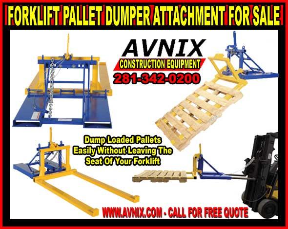 Commercial Grade Pallet Dumper Forklift Attachment For