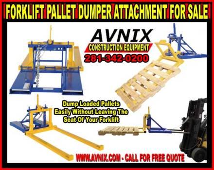 Heavy Duty Pallet Dumper Forklift Attachment On Sale Now!
