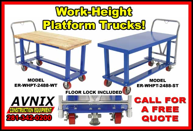 Work Height Platform Trucks For Sale At Discount Prices