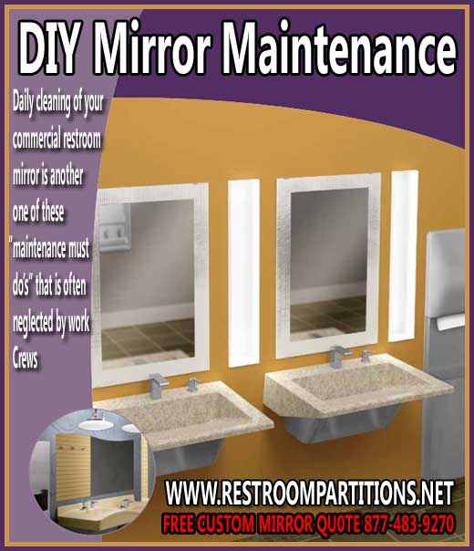 DIY Commercial Restroom Mirror Maintenance